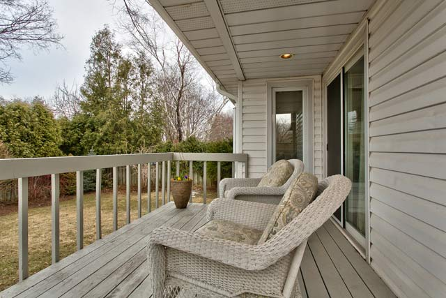 Deck off family room.