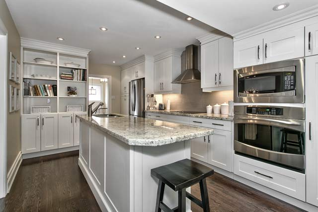 Renovated gourmet kitchen.